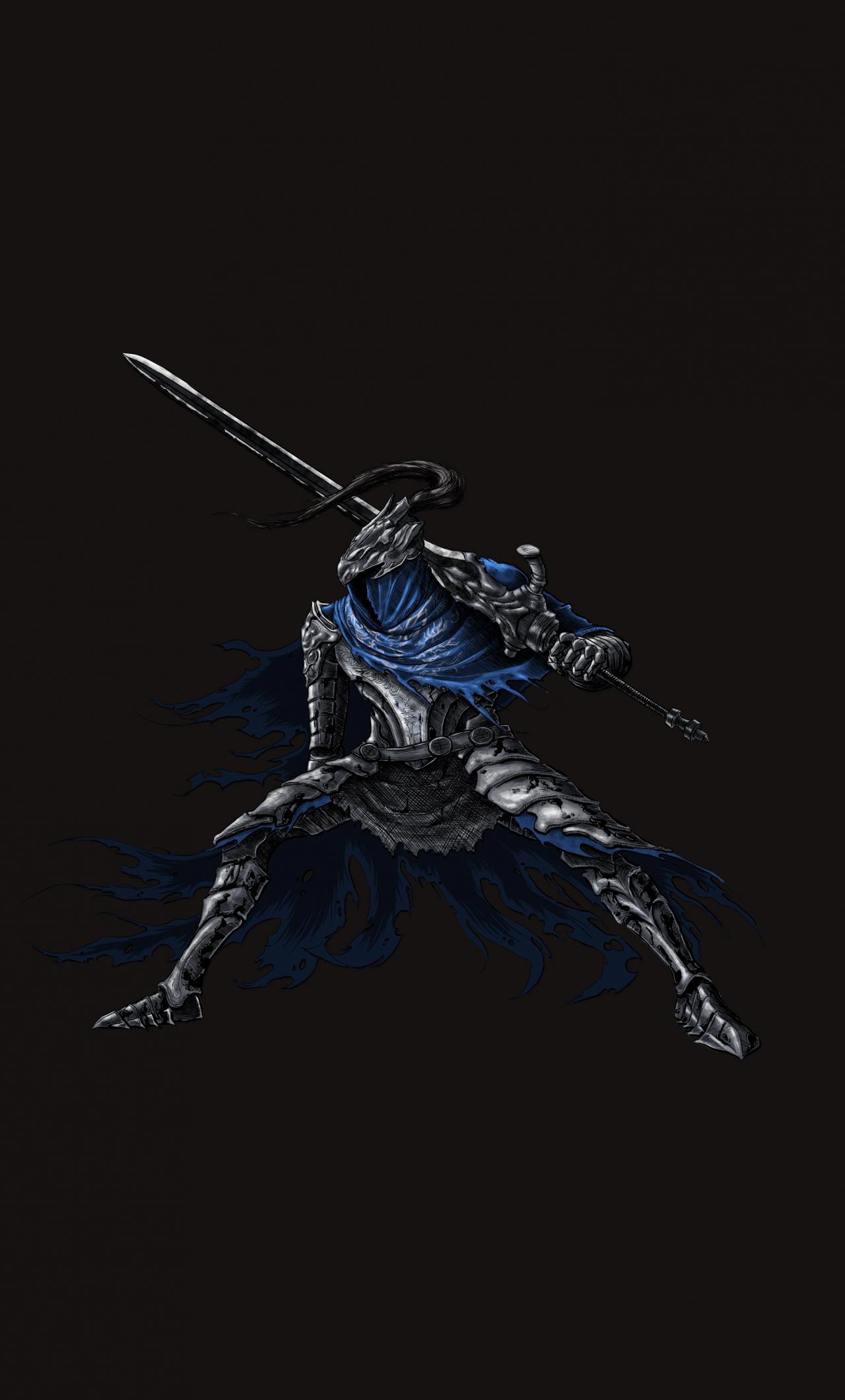 Download 1280x2120 Wallpaper Minimal Warrior Video Game Dark Souls Iphone 6 Plus 1280x2120 Hd Image Background 18027