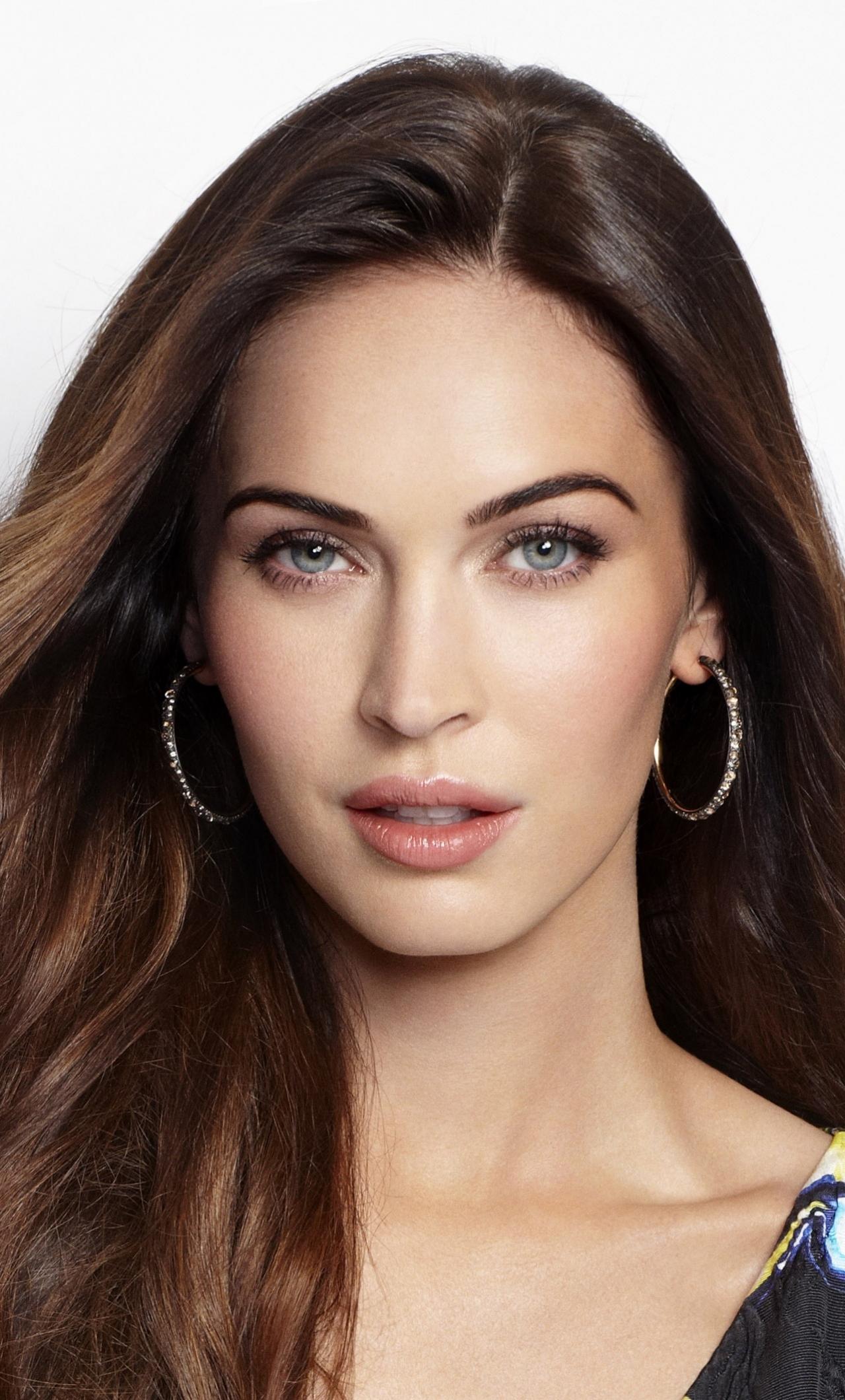 Download 1280x2120 Wallpaper Megan Fox Brunette Model