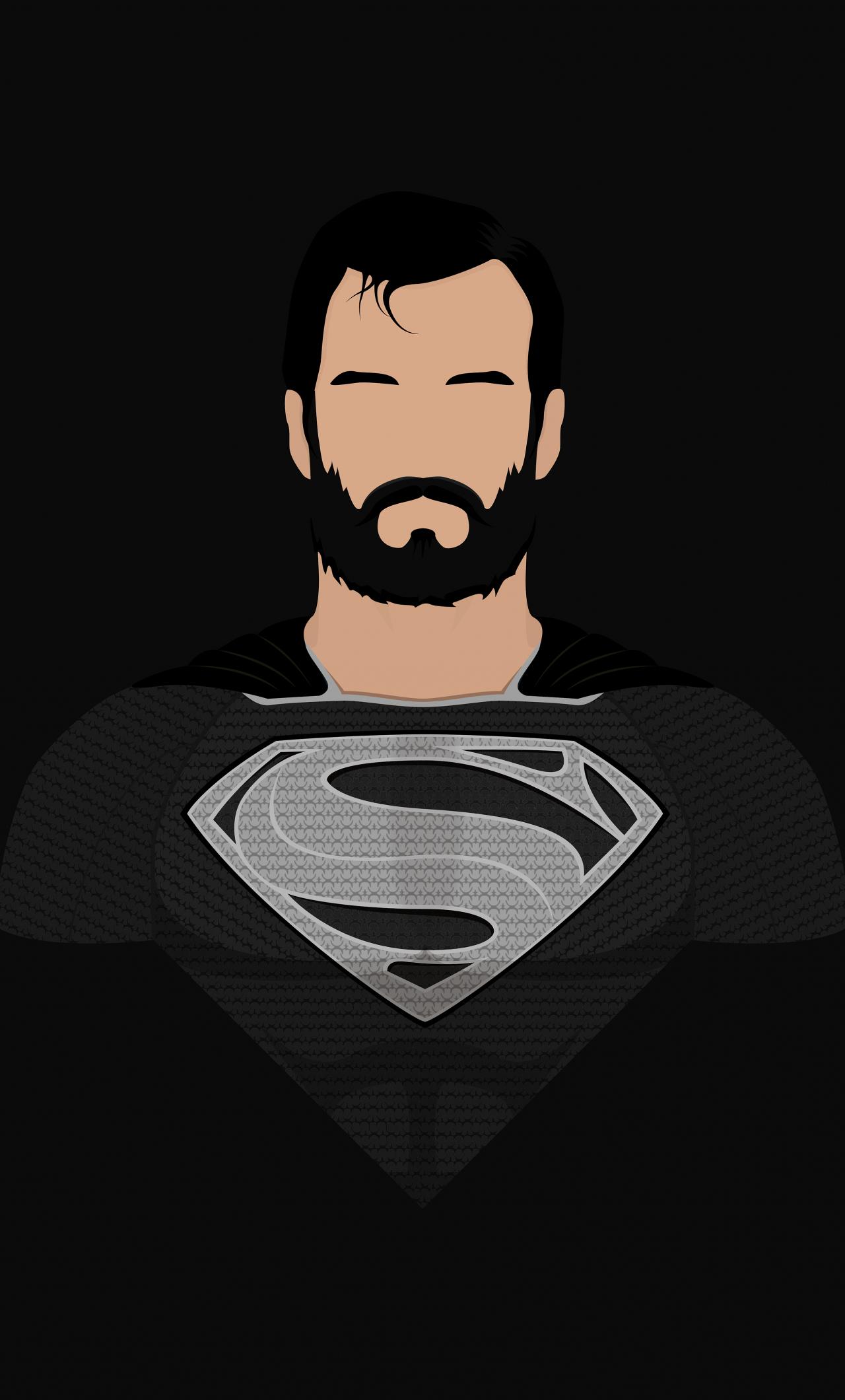 Superman Minimalism Superhero Art 1280x2120 Wallpaper