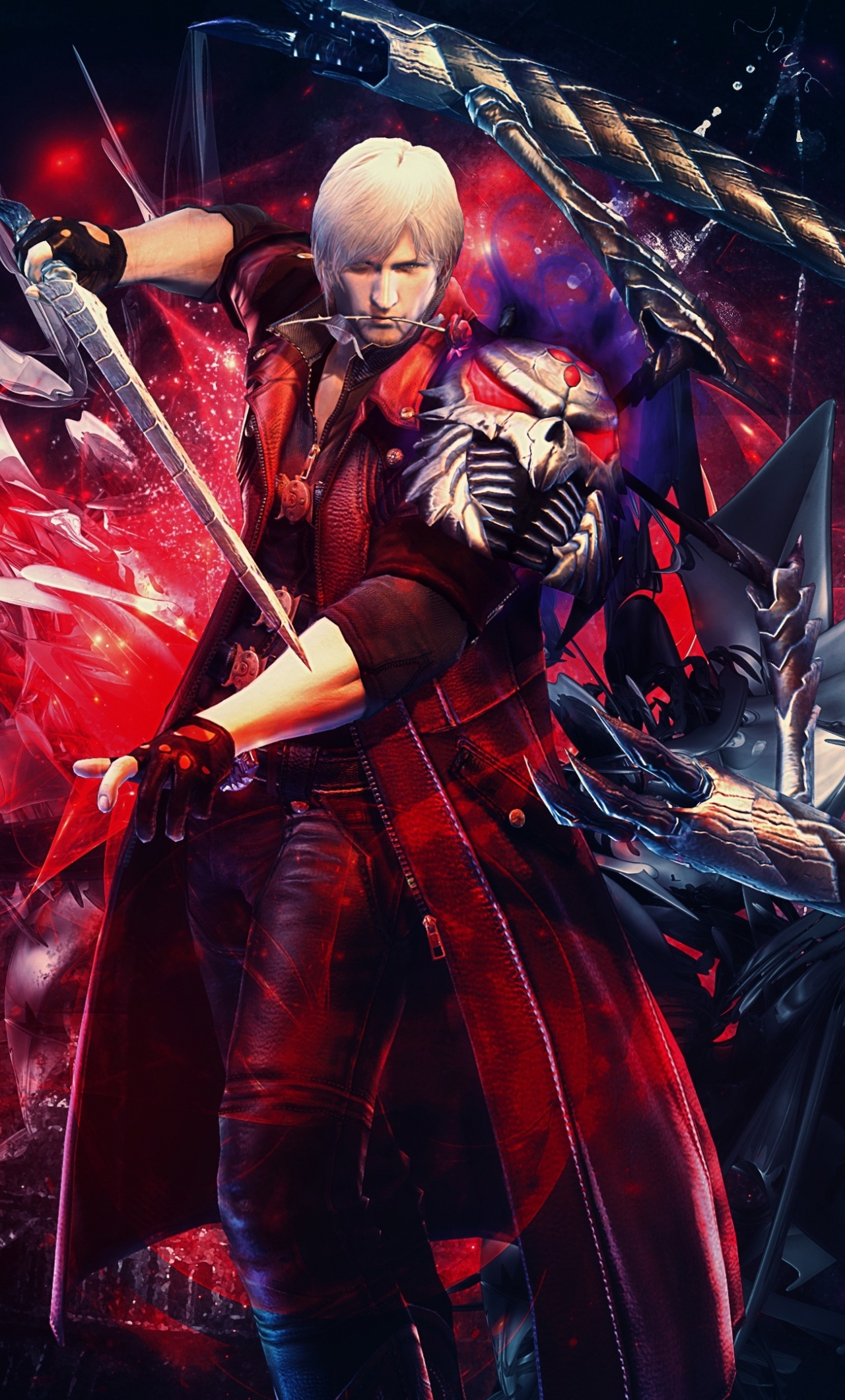Download 1280x2120 Wallpaper Capcom Devil May Cry Warrior Video