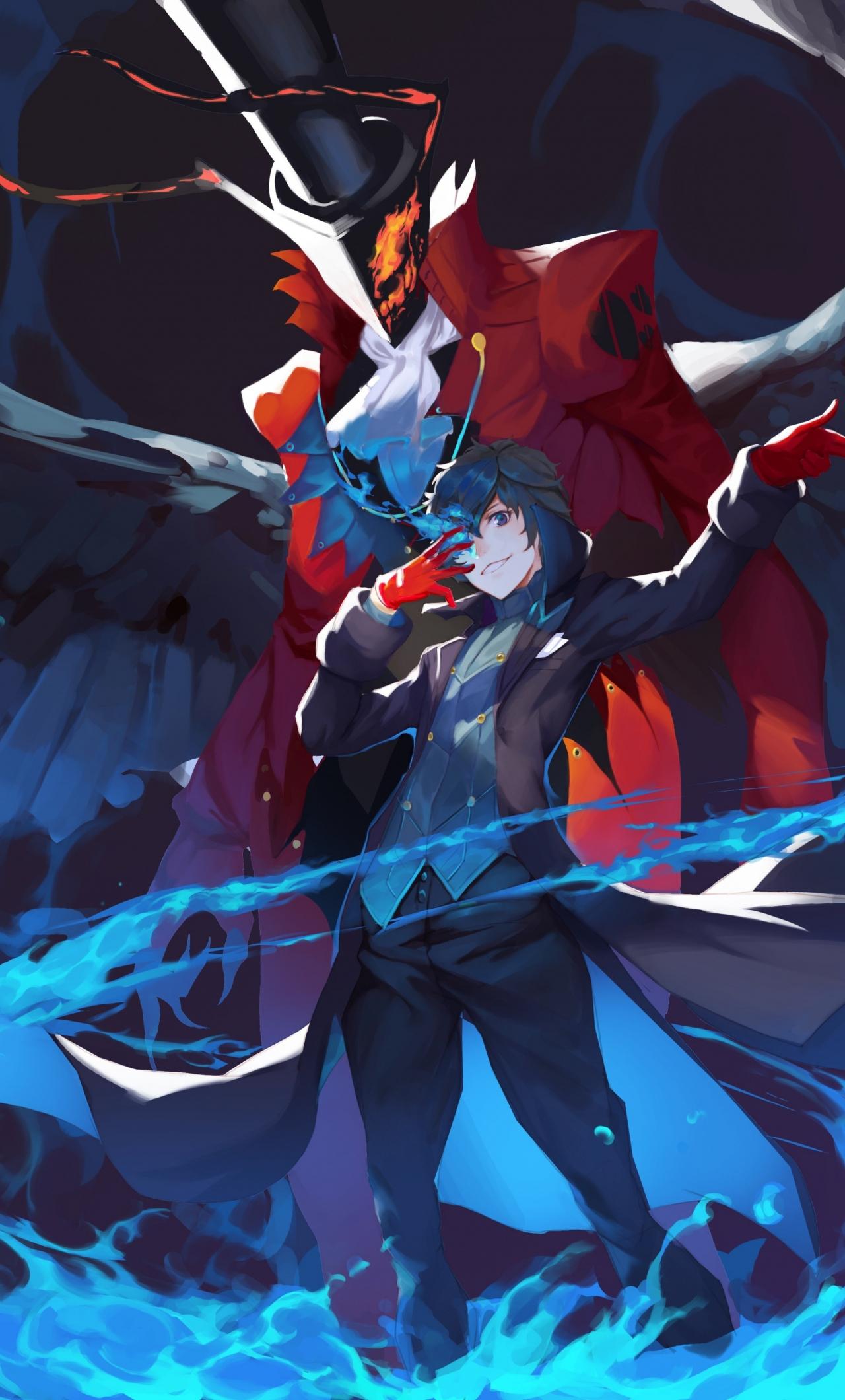 Download 1280x2120 Wallpaper Akira Kurusu Persona 5 Anime Video