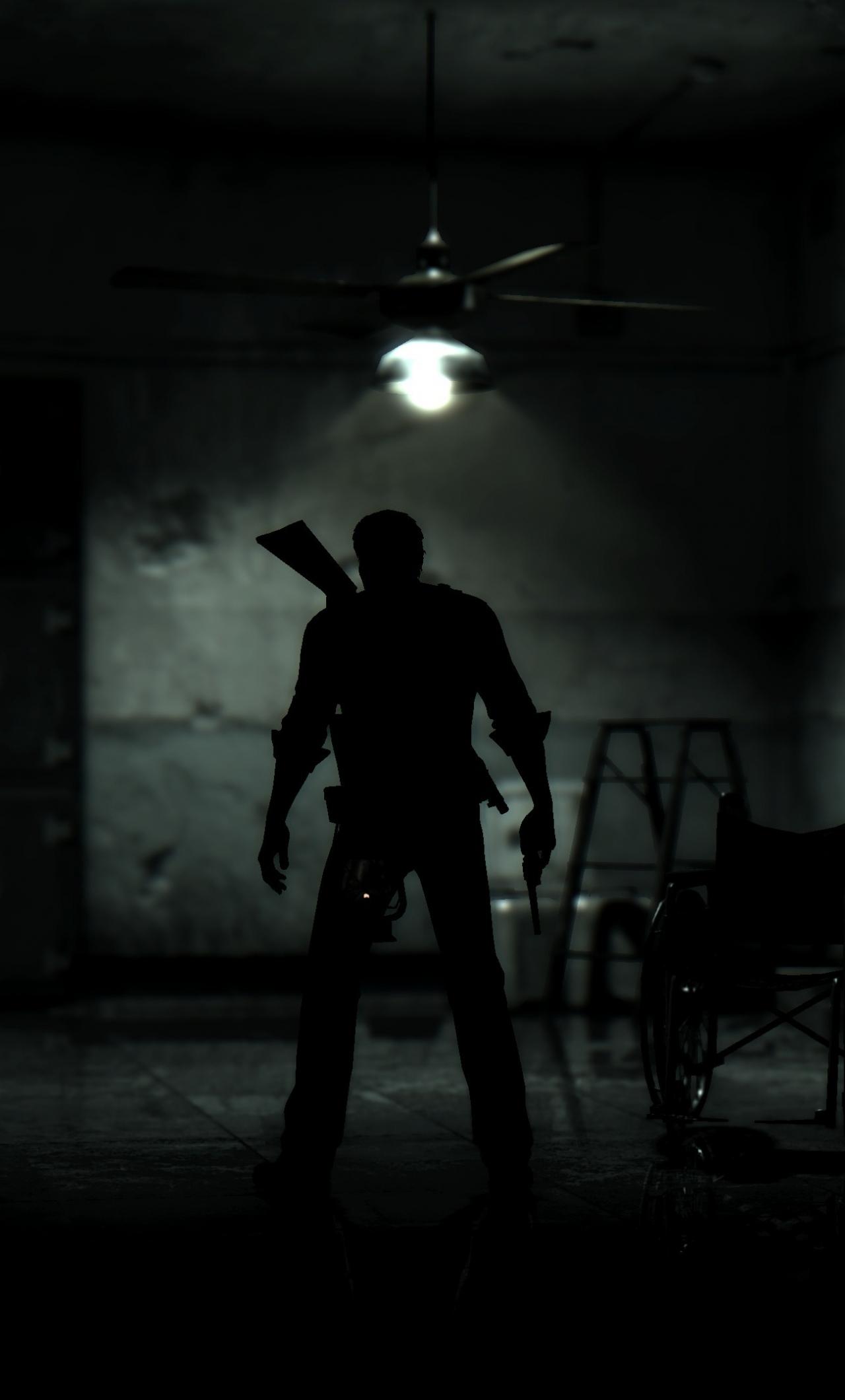 Download 1280x2120 Wallpaper Dark The Evil Within 2 Man With Gun