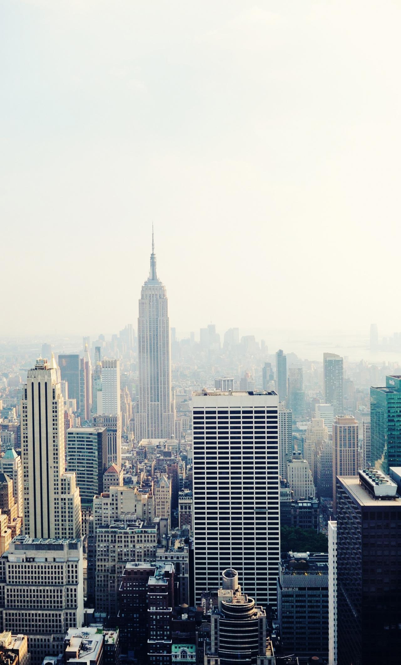 New York, cityscape, buildings, 1280x2120 wallpaper
