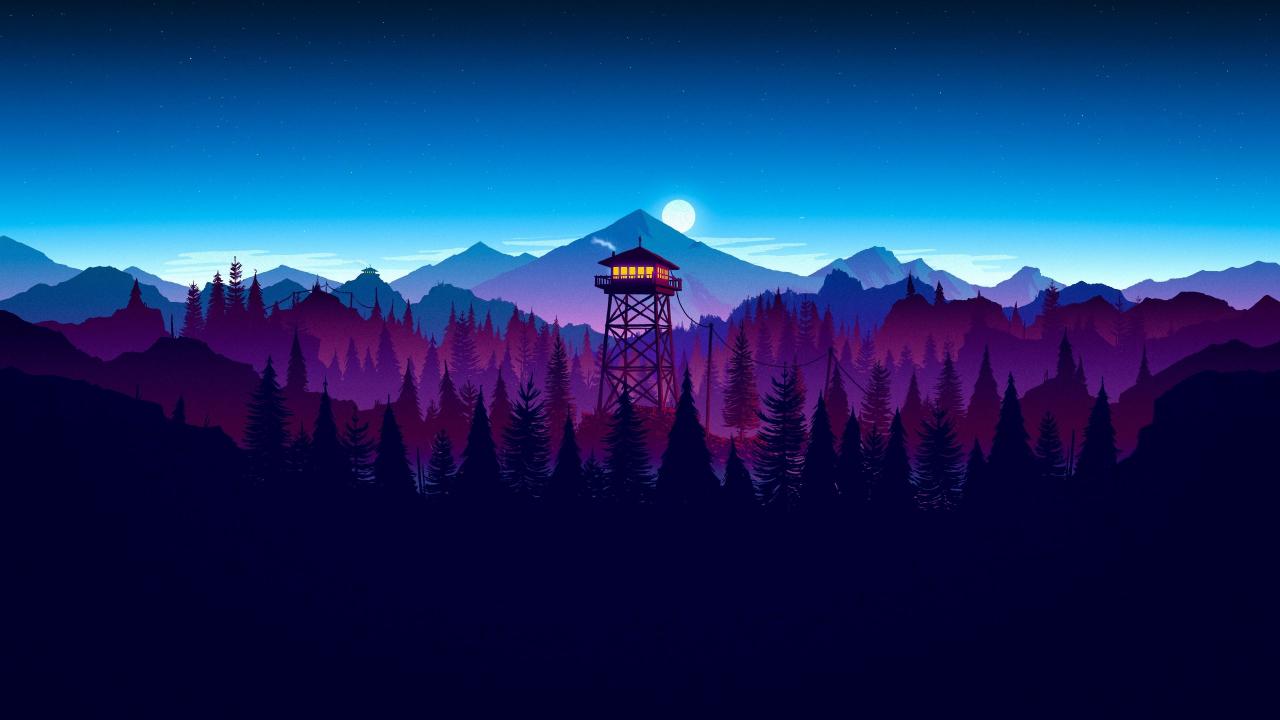 Download 1280x720 wallpaper firewatch, video game, sunset ...