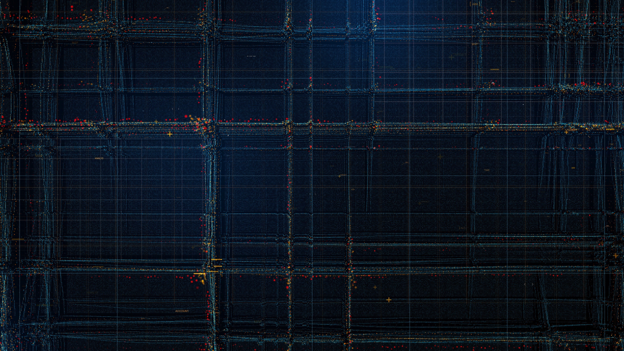 Particles, structure, lines, pattern, dark, 1280x720 wallpaper