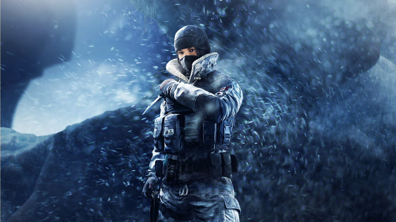 Tom Clancy's Rainbow Six Siege, girl soldier, frost, game, 1280x720 wallpaper
