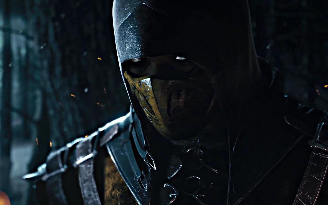 Download 1280x800 Wallpaper Dark Warrior Scorpion Mortal Kombat