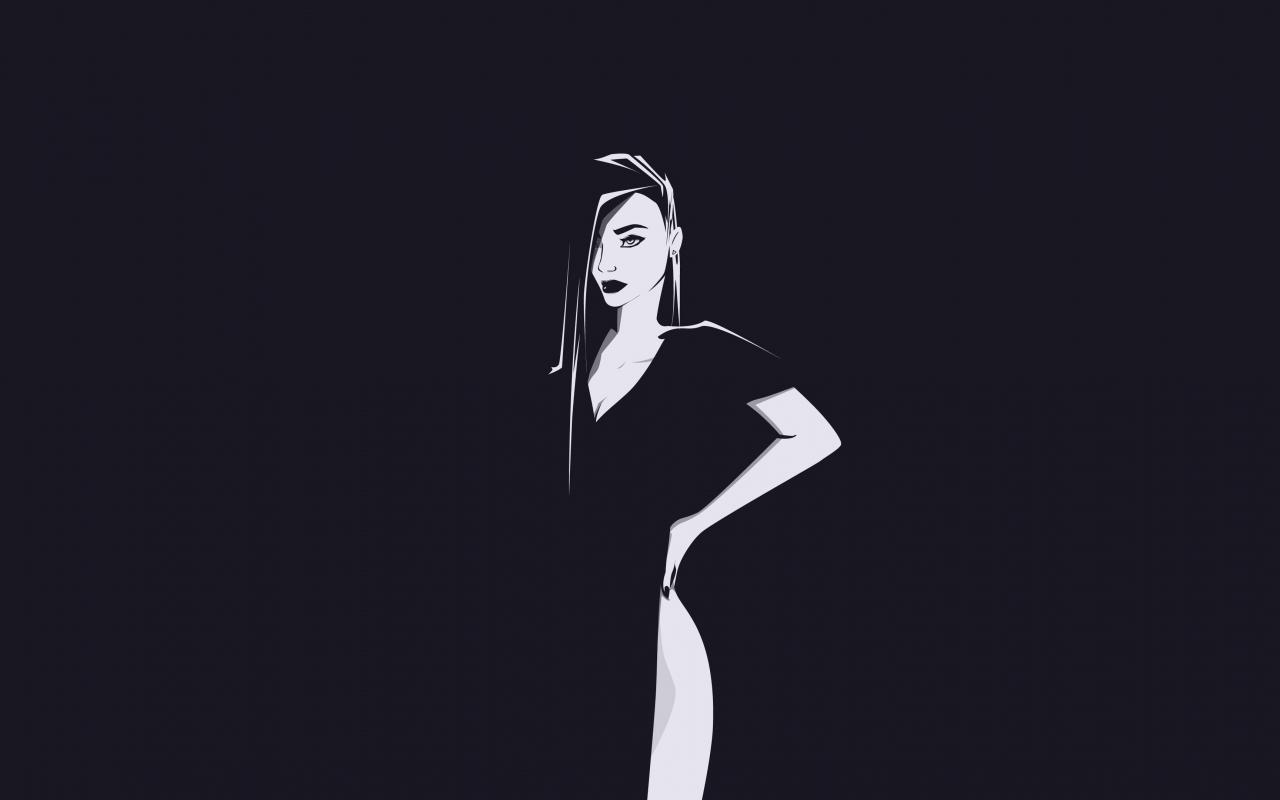 Minimal, urban woman, art, 1280x800 wallpaper