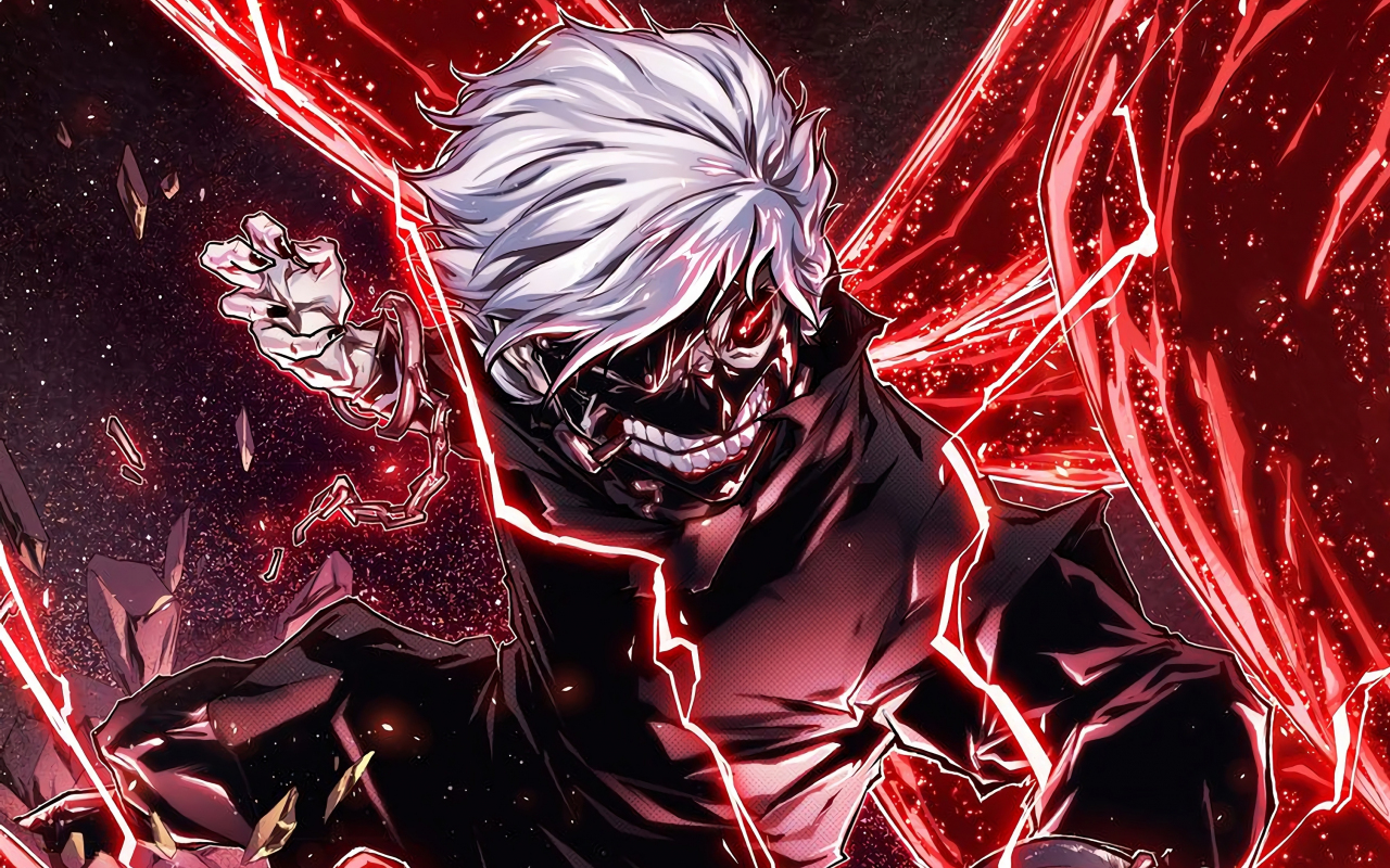 Download 1280x800 Wallpaper Ken Kaneki Angry Anime Boy Full Hd