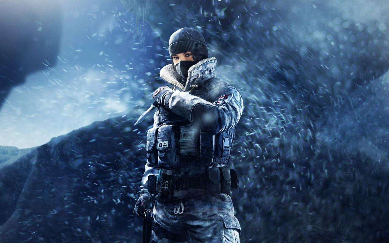 Tom Clancy's Rainbow Six Siege, girl soldier, frost, game, 1280x800 wallpaper