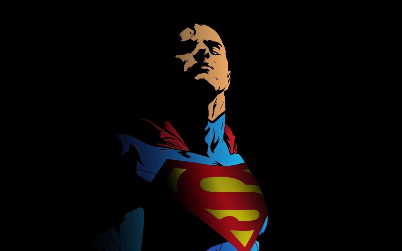 Superman, minimal, art, 1280x800 wallpaper