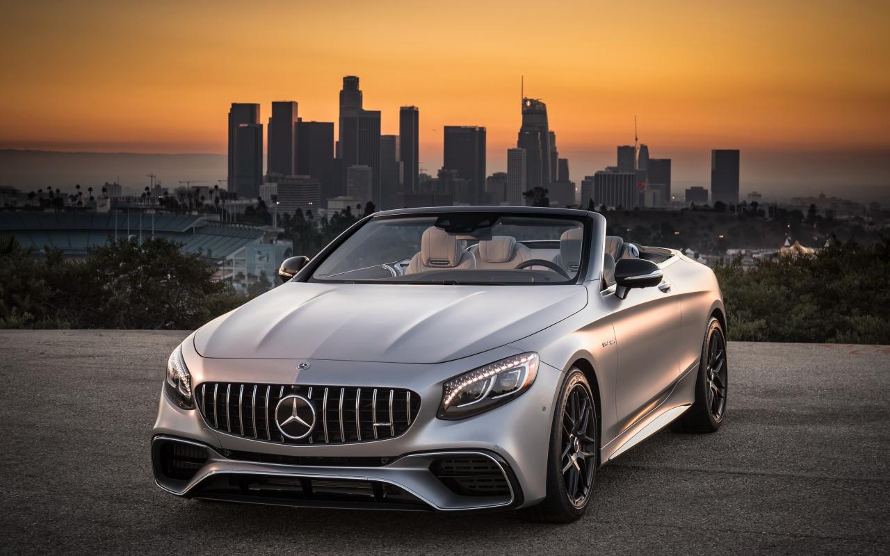 Mercedes-AMG S63 4MATIC Cabriolet, sports car, 1280x800 wallpaper
