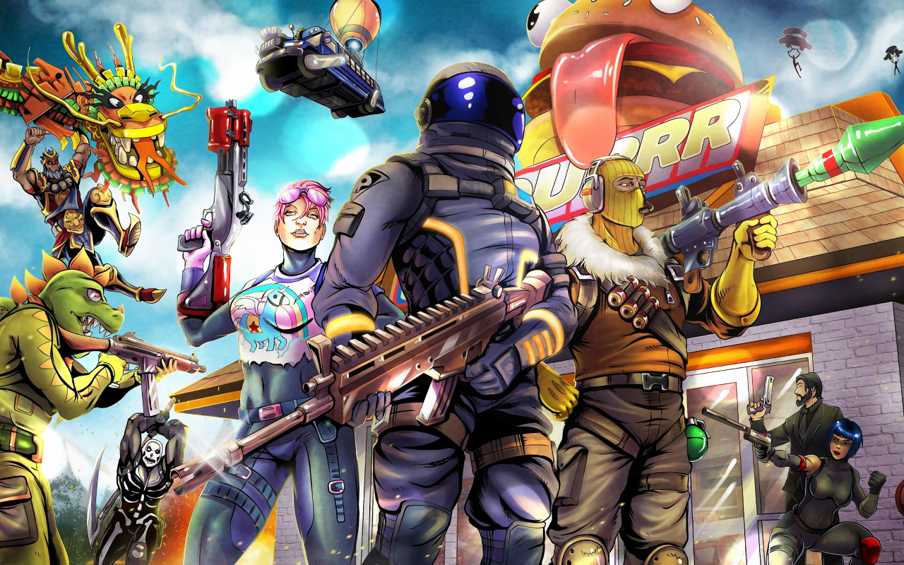 Download 1280x800 wallpaper 2018 video game fortnite art full hd hdtv fhd 1080p - 1366x768 is 720p or 1080p ...