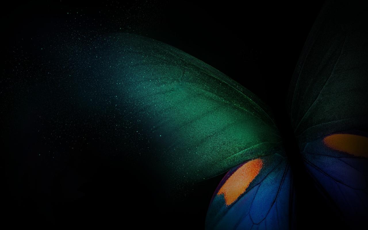 Download 1280x800 Wallpaper Samsung Galaxy Fold Butterfly Green Blue Black Full Hd Hdtv Fhd 1080p Widescreen 1280x800 Hd Image Background 20894