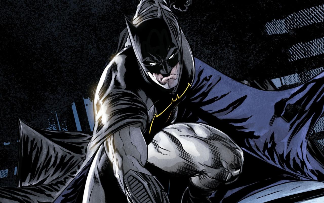 Comics, batman, dark knight, superhero, 1280x800 wallpaper