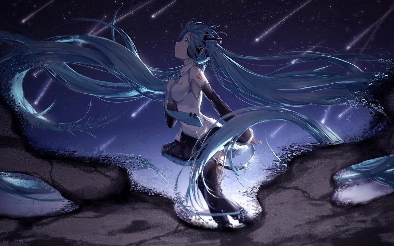 Download Wallpaper Hatsune Miku Long Hair Anime