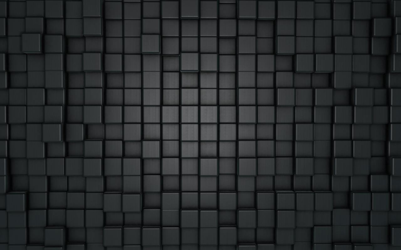Wallpaper black azure d cubes c cf °