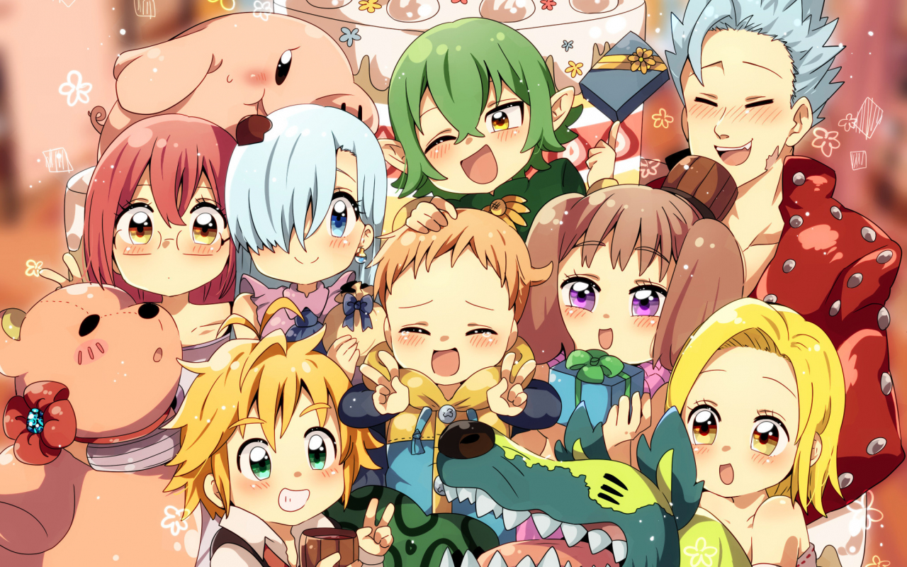 Download 1280x800 wallpaper anime, characters, the seven ...