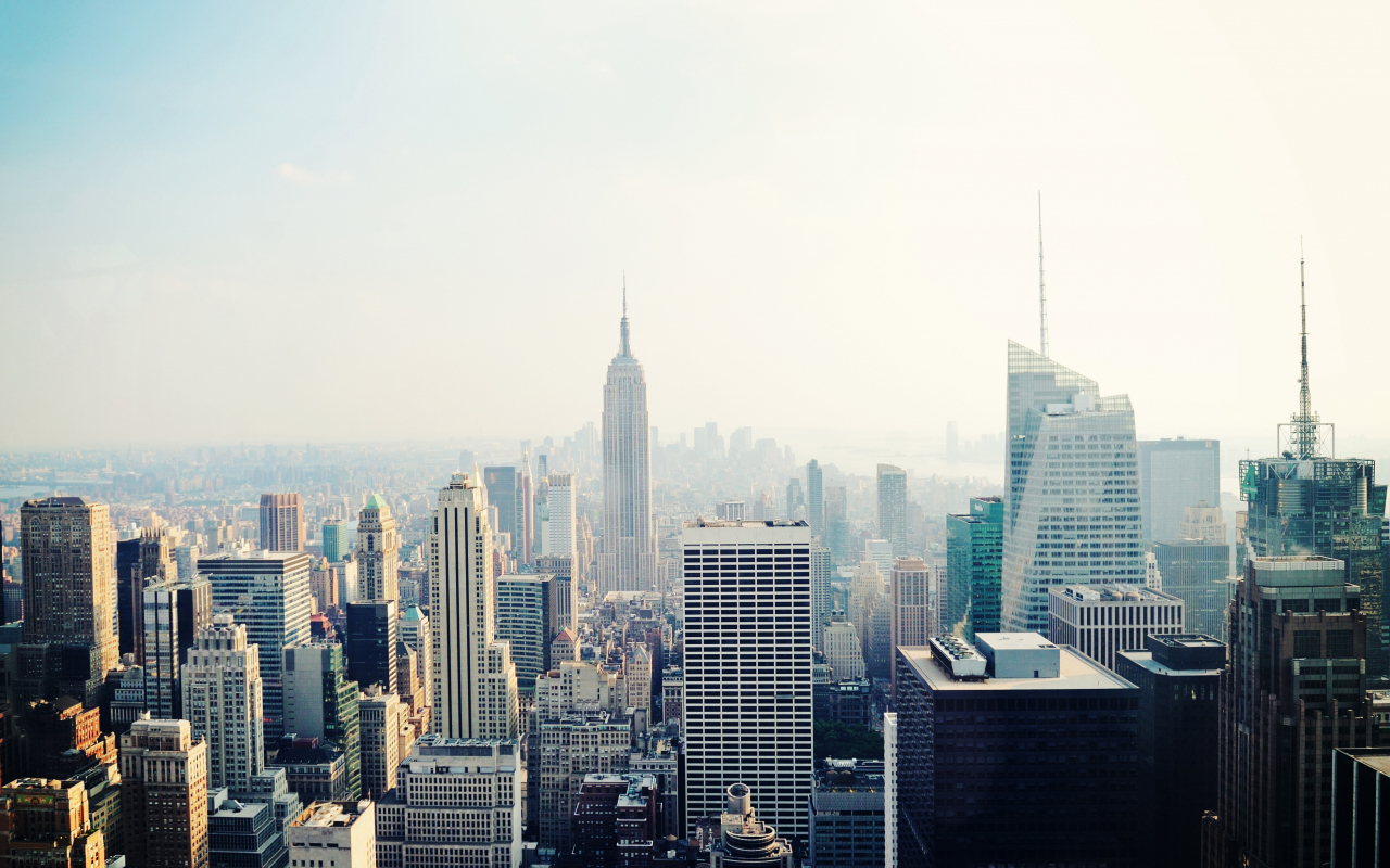 New York, cityscape, buildings, 1280x800 wallpaper