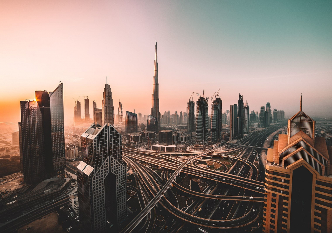Dubai, skyline, cityscape, skyscrapers, buildings, Burj Khalifa, city, 1280x900 wallpaper