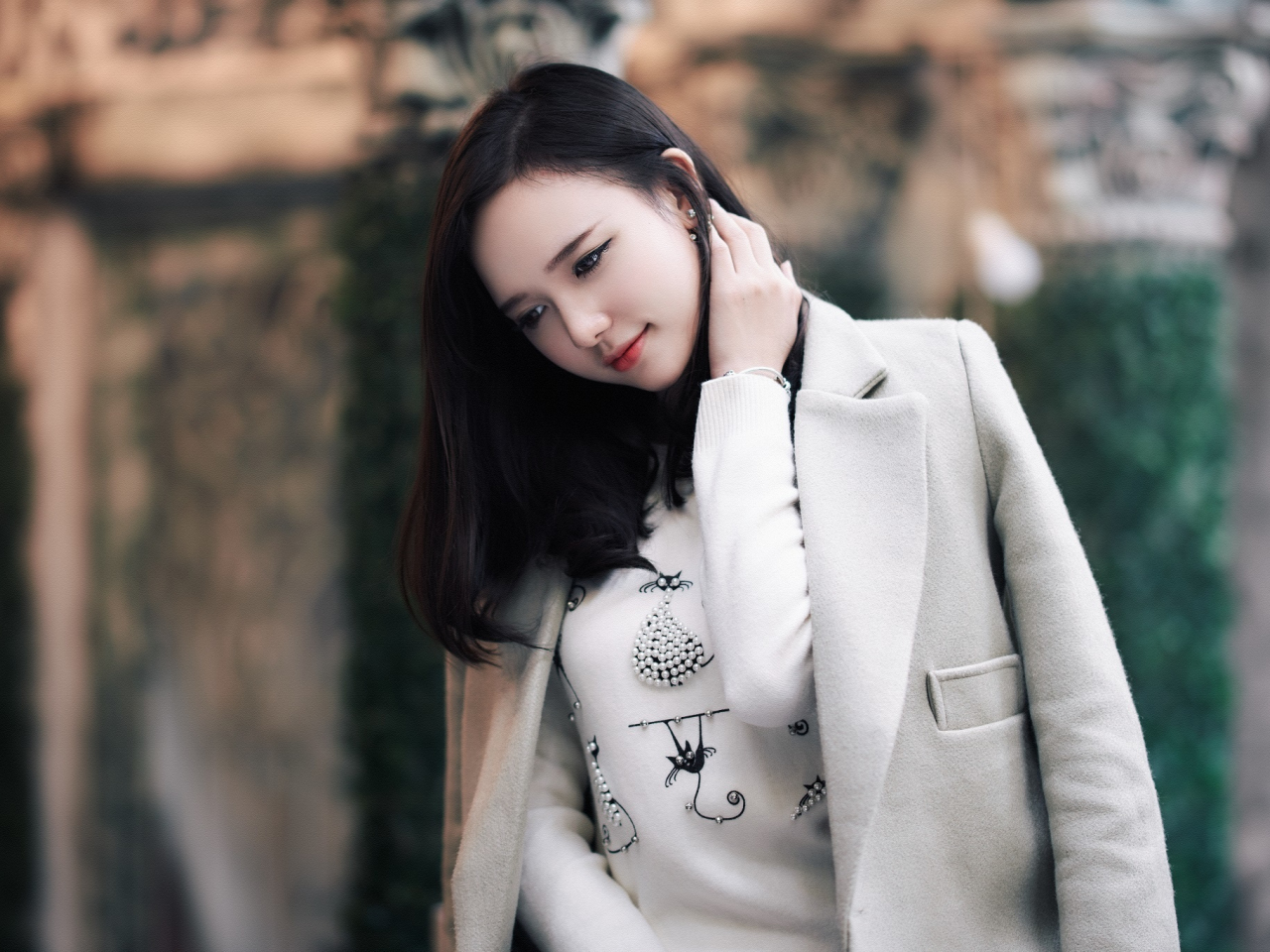 Download 1280x960 wallpaper cute and beautiful, girl model