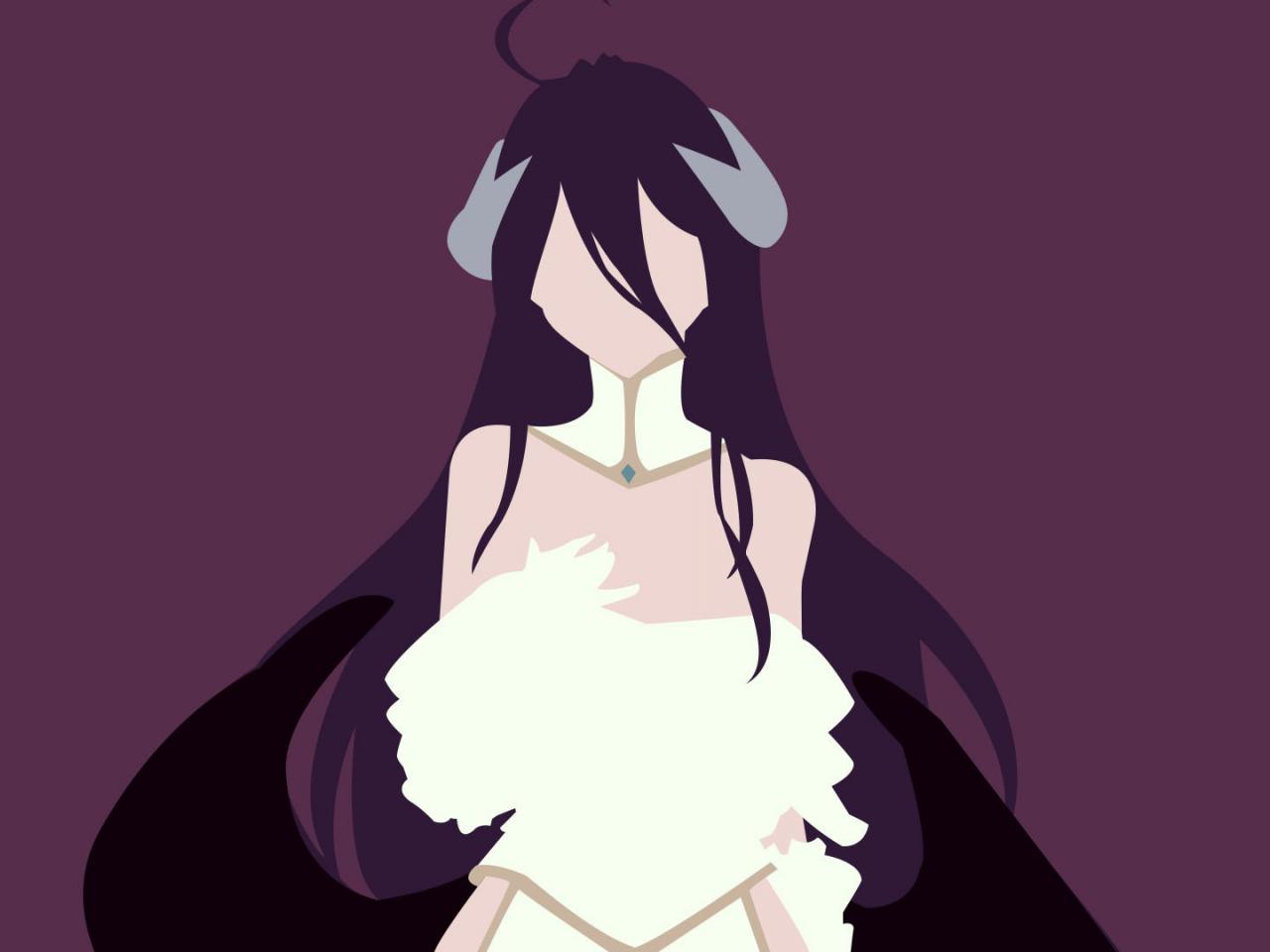 Download 1280x960 Wallpaper Minimal Albedo Overlord Anime
