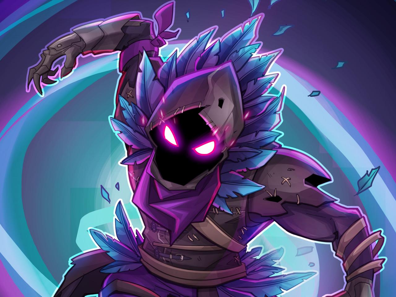 Download 1280x960 Wallpaper Raven Fortnite Battle Royale Creature Game Standard 4 3 Fullscreen 1280x960 Hd Image Background 8126