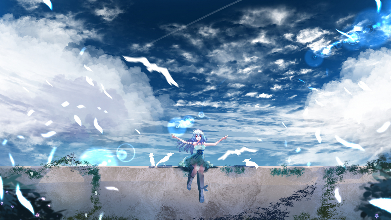 Download 1366x768 Wallpaper Beautiful Scenery Anime Outdoor Anime