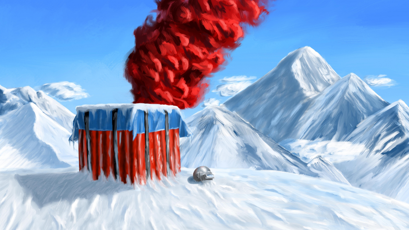 Download 1366x768 wallpaper pubg winter mountains landscape red smoke art tablet laptop - 1366x768 is 720p or 1080p ...
