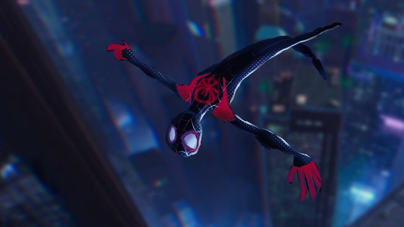 Download 1366x768 Wallpaper Spider Man Into The Spider Verse