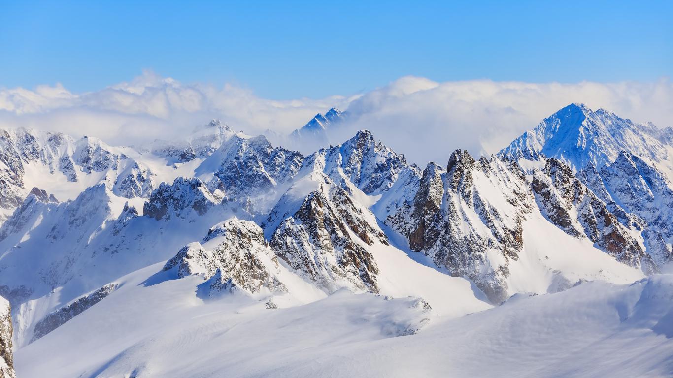 Download 1366x768 Wallpaper Titlis Swiss Alps Mountains