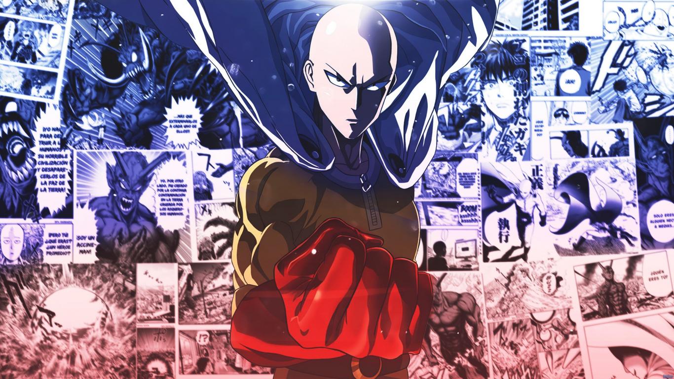 Download 1366x768 Wallpaper Saitama Onepunch Man Anime