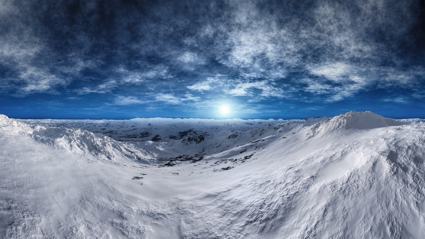 Download 1366x768 Wallpaper Tundra Arctic Mountains Winter Sunny Day Glacier Landscape Tablet Laptop 1366x768 Hd Image Background 6636