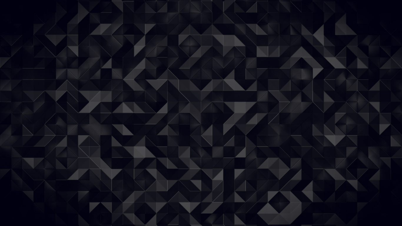 Download 1366x768 Wallpaper Dark Triangles Abstract Pattern