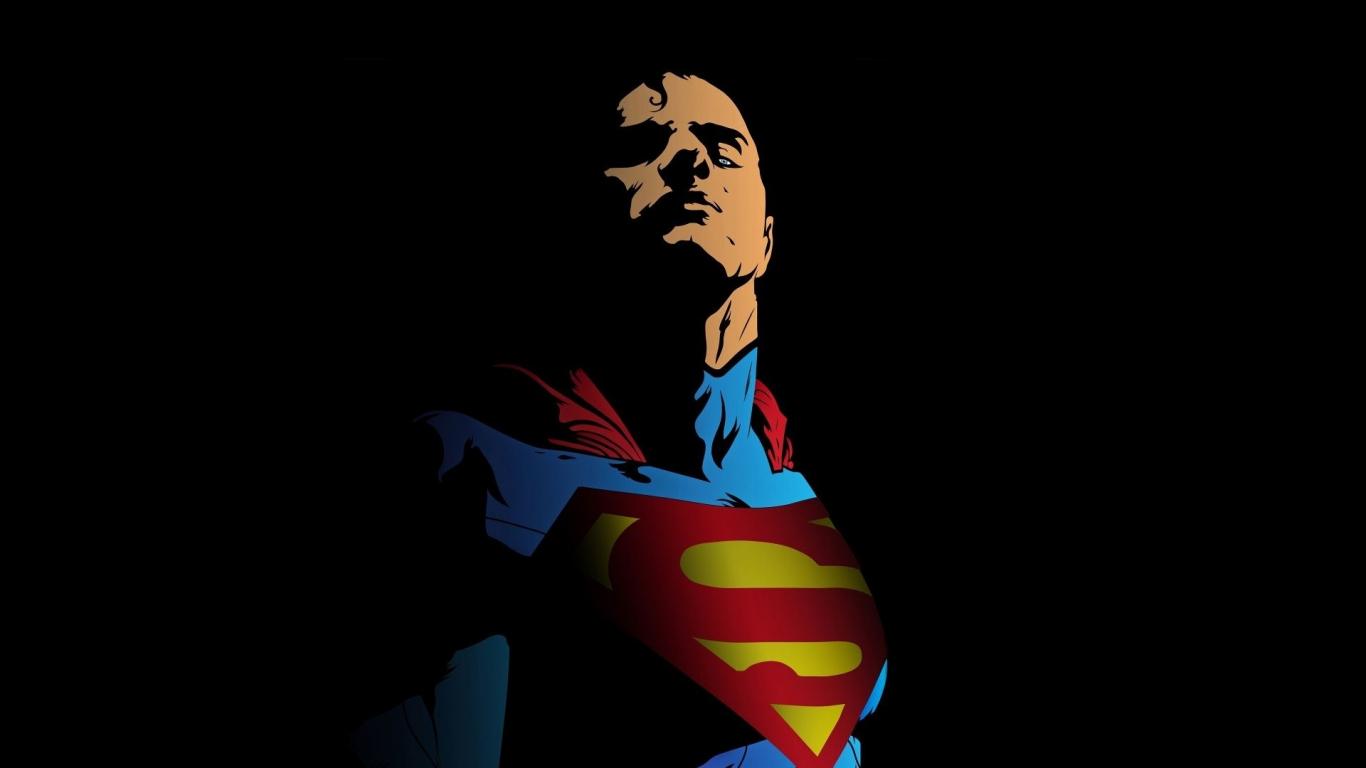 Superman, minimal, art, 1366x768 wallpaper