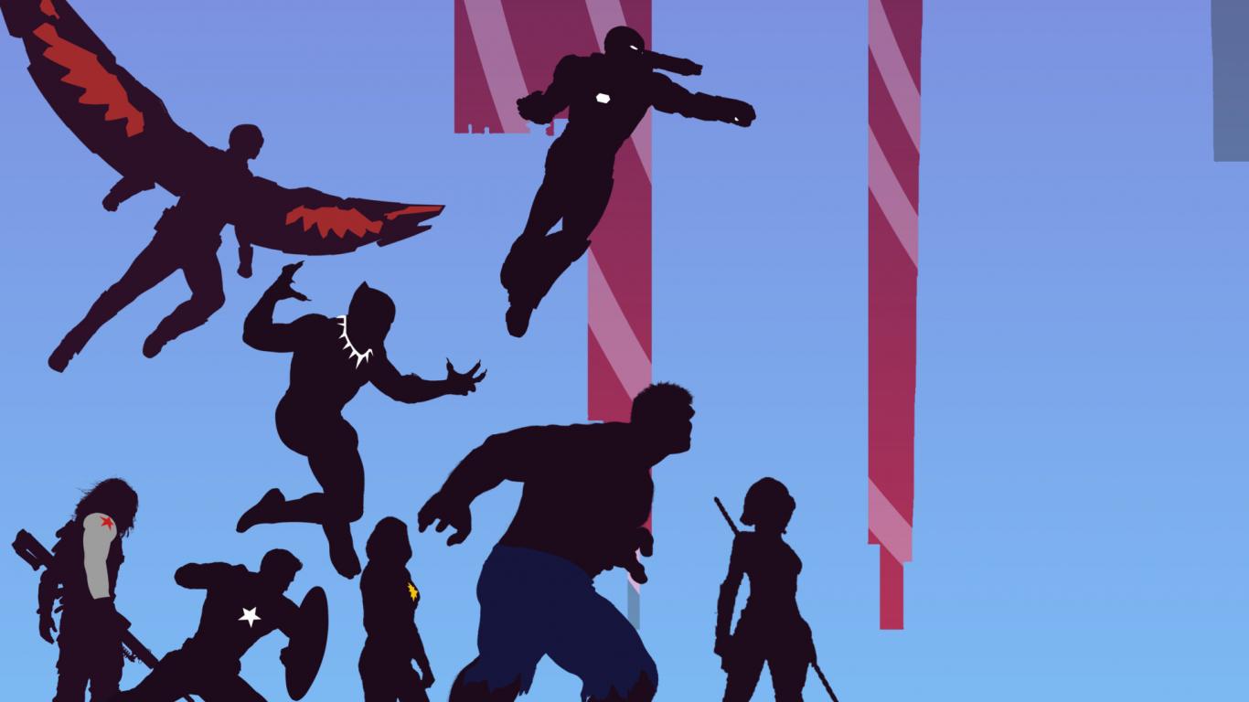 Download 1366x768 wallpaper avengers, superhero, marvel ...