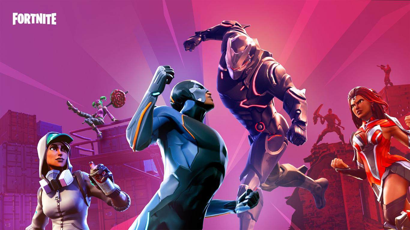 Download 1366x768 Wallpaper Video Game 2018 Fortnite Skins