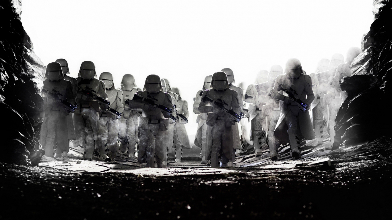 Download 1366x768 Wallpaper Snowtroopers Star Wars The Last Jedi Movie Soldier Tablet Laptop 1366x768 Hd Image Background 1116