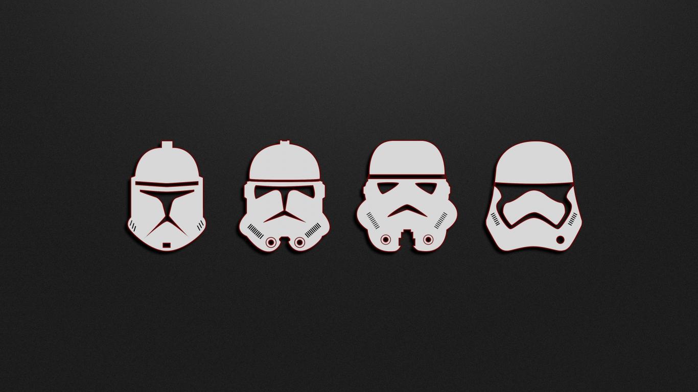 Download 1366x768 Wallpaper Minimal Soldiers Stormtrooper Star Wars Tablet Laptop 1366x768 Hd Image Background 5349