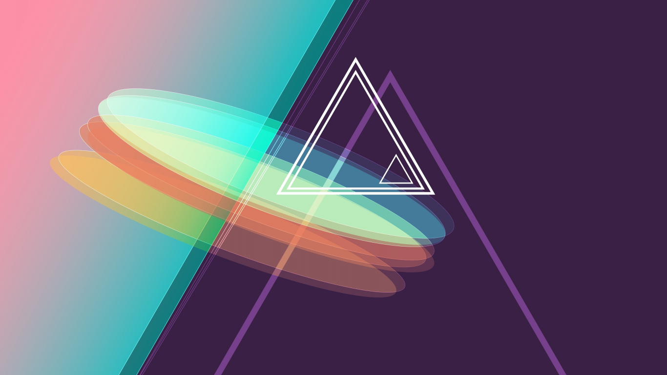 Download 1366x768 Wallpaper Geometric Abstract Triangles