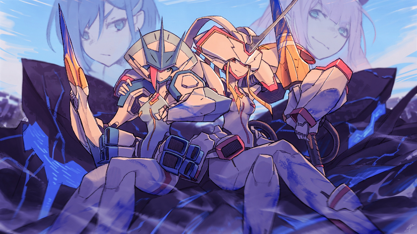 Download 1366x768 Wallpaper Darling In The Franxx Soldiers Girls