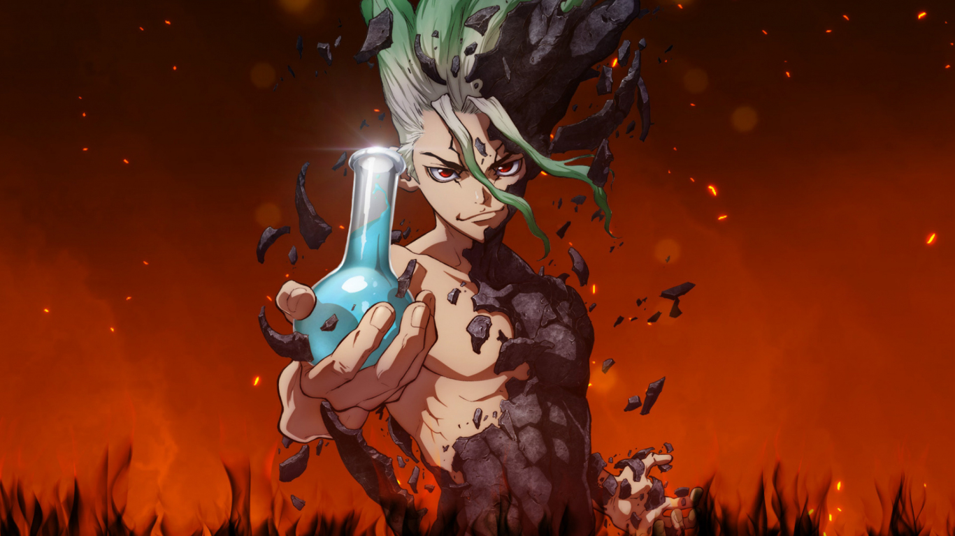 Download 1366x768 Wallpaper Anime Boy Artwork Senku Ishigami Dr Stone Tablet Laptop 1366x768 Hd Image Background 17844