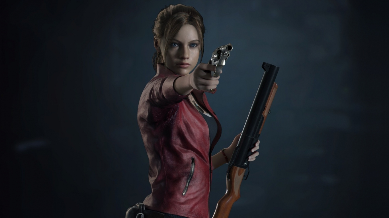 Resident Evil 2, video game, Claire Redfield, 1366x768 wallpaper