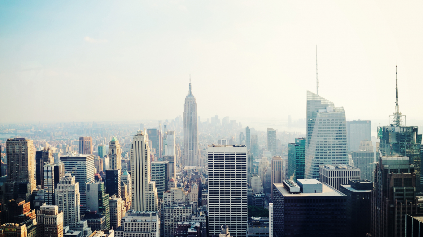 New York, cityscape, buildings, 1366x768 wallpaper