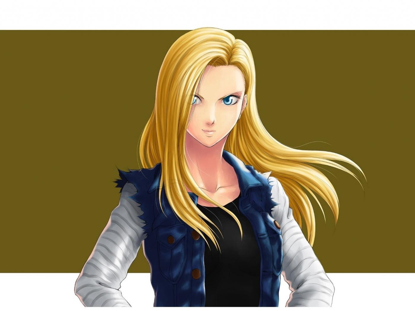 Download 1400x1050 Wallpaper Beautiful Anime Girl Android 18 Dragan Ball Standard 4 3 Fullscreen 1400x1050 Hd Image Background 17311
