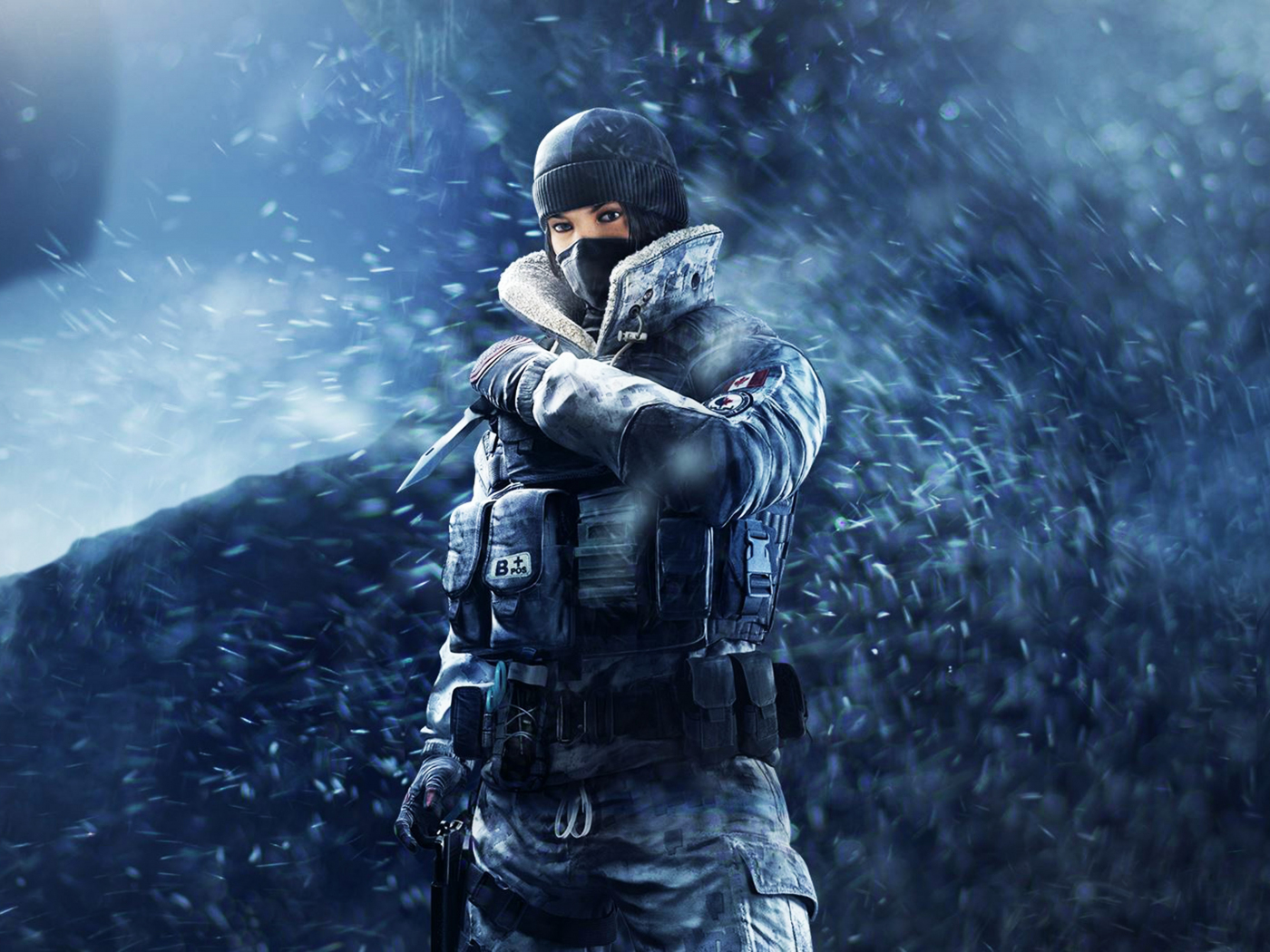 Tom Clancy's Rainbow Six Siege, girl soldier, frost, game, 1400x1050 wallpaper