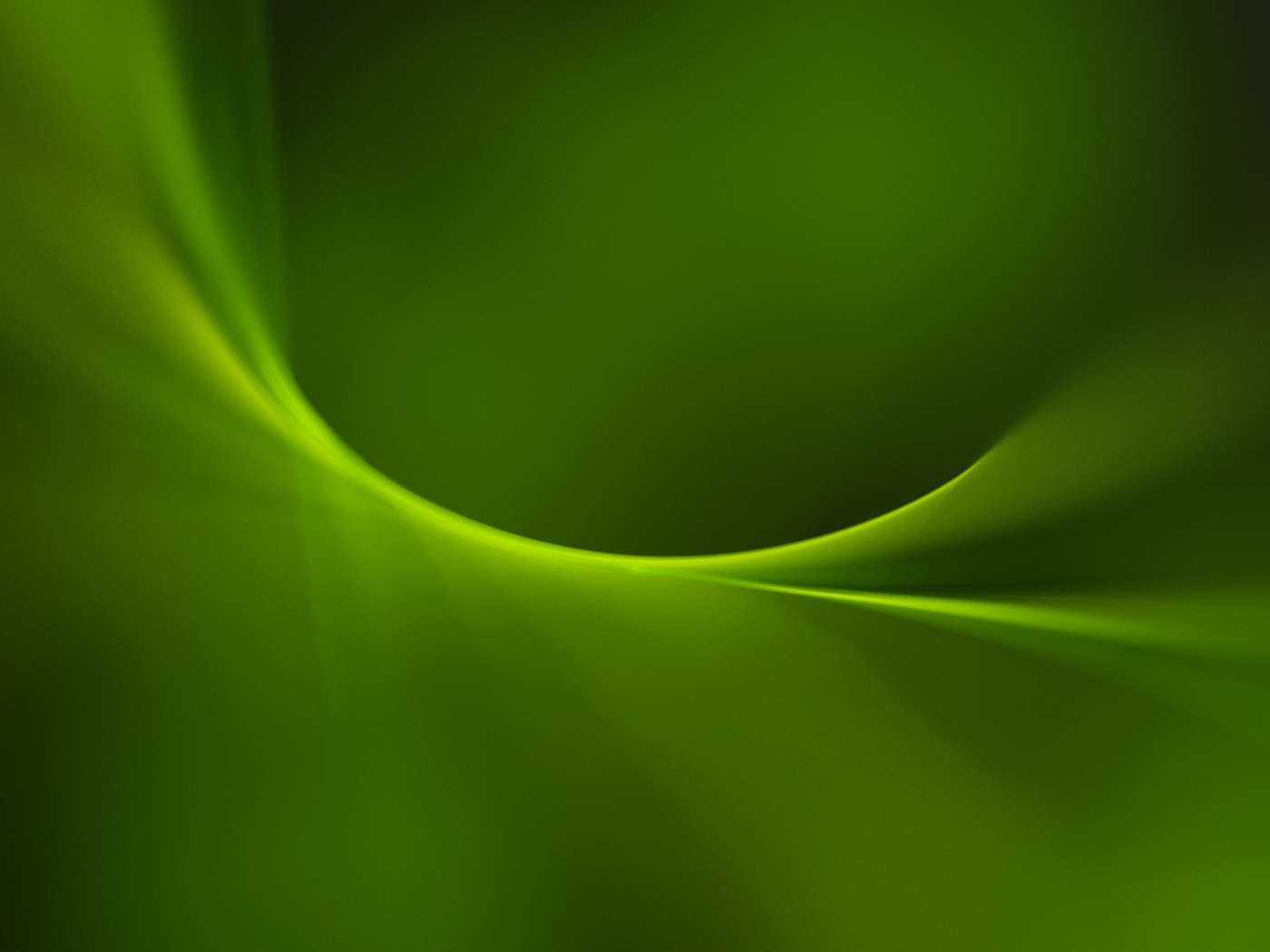 Download 1400x1050 Wallpaper Simple Green Curves Abstract