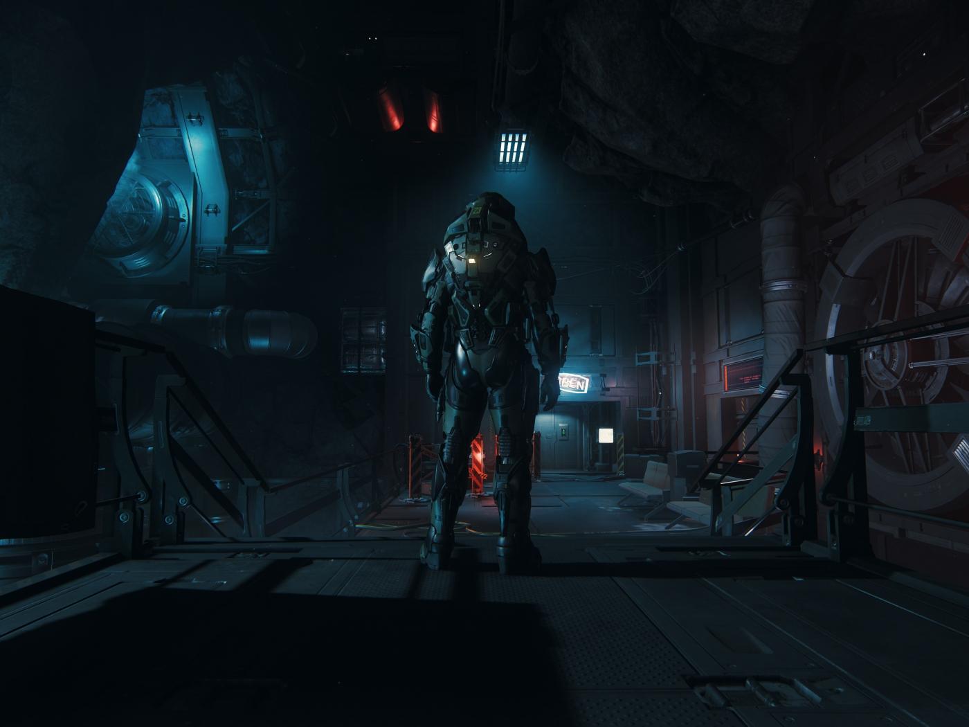 Soldier Dark Video Game Star Citizen Armored Suit 1400x1050 Wallpaper