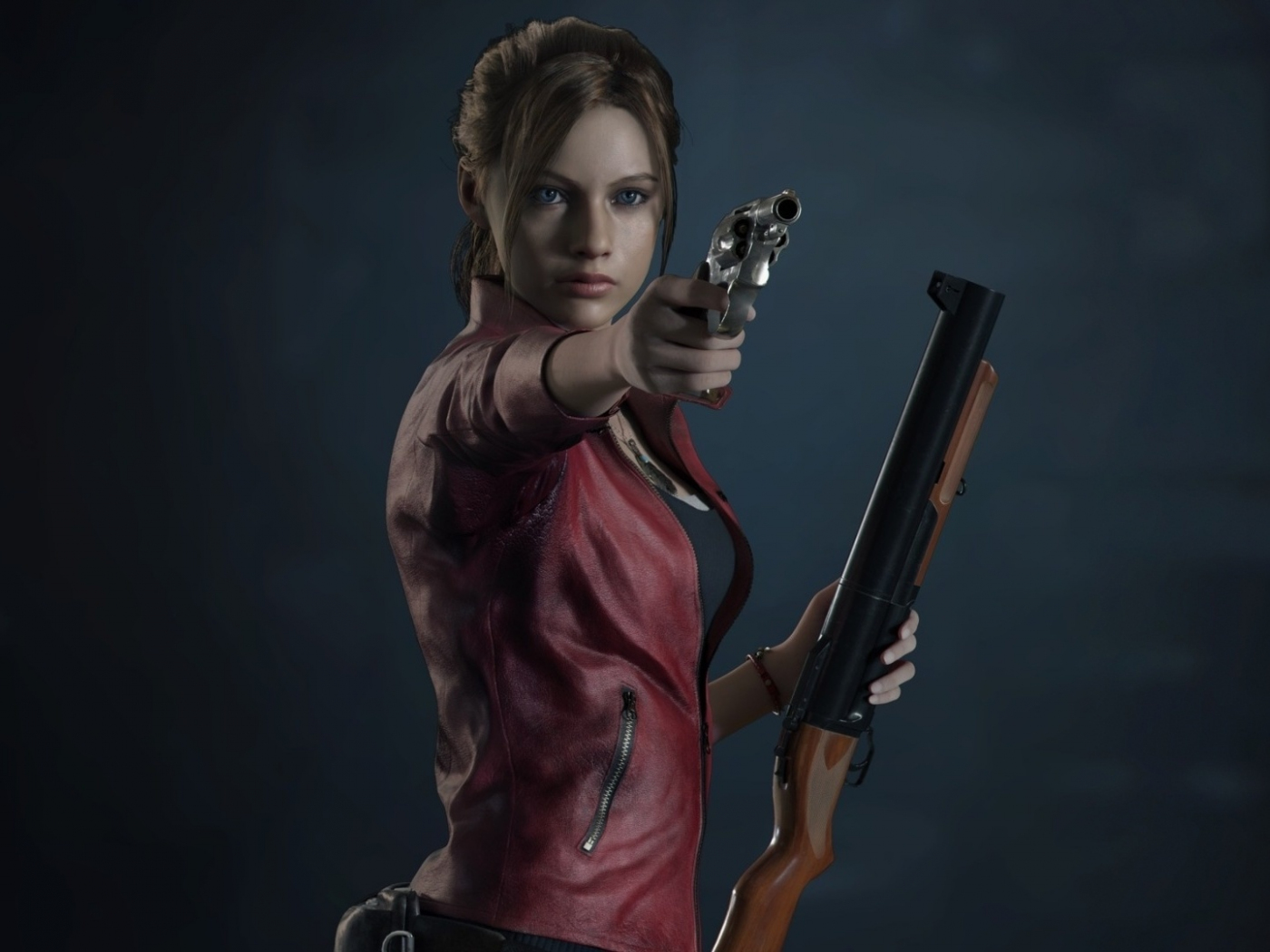 Resident Evil 2, video game, Claire Redfield, 1400x1050 wallpaper