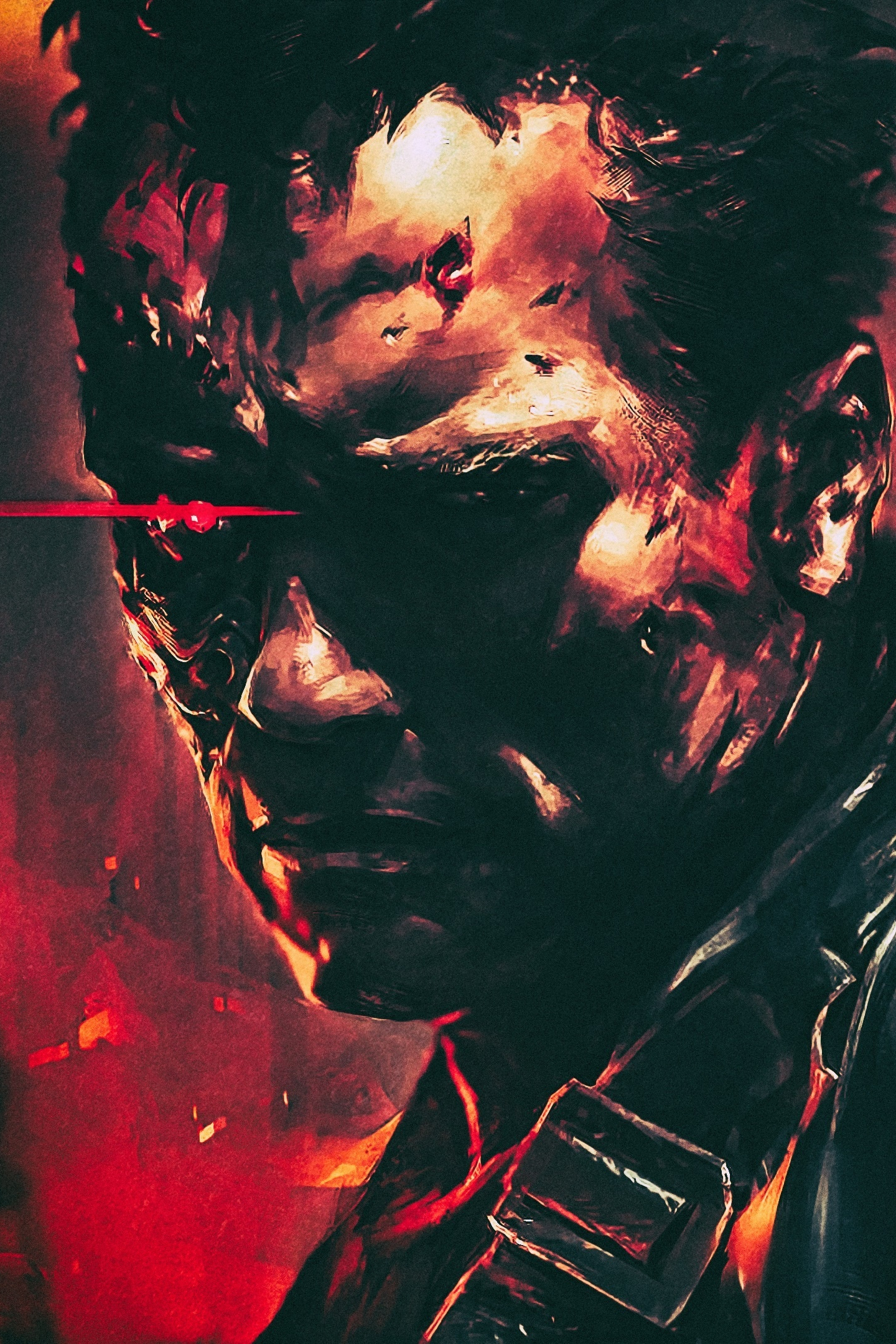 Download 1440x2560 wallpaper terminator 2 t 800 cyborg arnold schwarzenegger movie art qhd - Terminator 2 wallpaper hd ...
